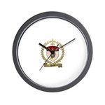 POULET Family Crest Wall Clock