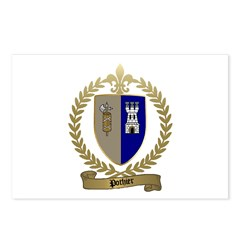 POTHIER Family Crest Postcards (Package of 8)