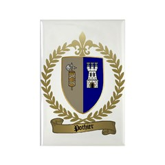 POTHIER Family Crest Rectangle Magnet (10 pack)