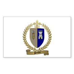 POTHIER Family Crest Rectangle Decal