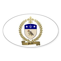 PORLIER Family Crest Oval Decal