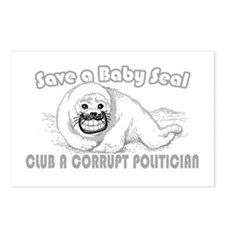 Club a Corrupt Politician Postcards (Package of 8)