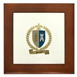 POITIERS Family Crest Framed Tile