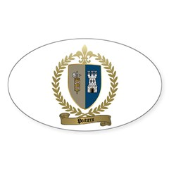 POITIERS Family Crest Oval Decal