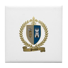 POITIERS Family Crest Tile Coaster