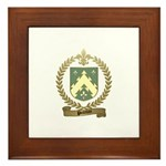 POITEVIN Family Crest Framed Tile