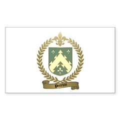 POITEVIN Family Crest Rectangle Decal