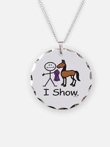Horse Showing Stick Figure Necklace