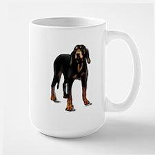 black and tan hound Large Mug