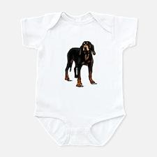 black and tan hound Infant Bodysuit