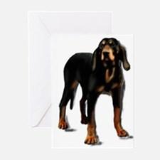 black and tan rainbow br Greeting Cards (Pk of 10)