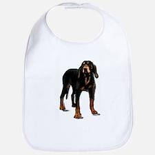 black and tan hound Bib