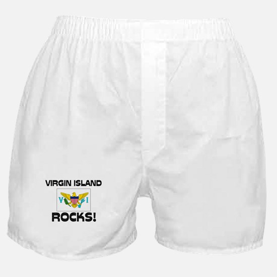 Virgin Island Rocks! Boxer Shorts