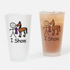 Horse Showing Stick Figure Drinking Glass