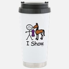 Horse Showing Stick Fig Stainless Steel Travel Mug