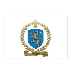 PLOURDE Family Crest Postcards (Package of 8)