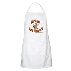 My Lips Your Beaver! BBQ Apron