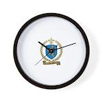 PLOURDE Family Crest Wall Clock