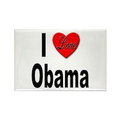 I Love Obama Rectangle Magnet (10 pack)