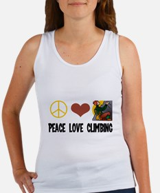 Peace Love Climbing Women's Tank Top