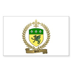 PITRE Family Crest Rectangle Decal