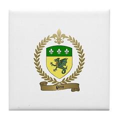 PITRE Family Crest Tile Coaster