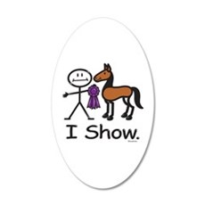 Horse Showing Stick Figure Wall Decal