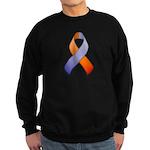 Orchid and Orange Awareness Ribbon Sweatshirt (dar