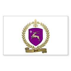 PINET Family Crest Rectangle Decal