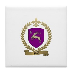 PINET Family Crest Tile Coaster