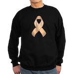 Peach Awareness Ribbon Sweatshirt (dark)