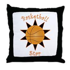 Basketball Star Throw Pillow