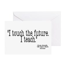 i touch the future i teach Greeting Card