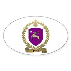 PINETTE Family Crest Oval Decal