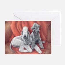 Bedlington Puppy Love Greeting Card