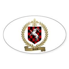 PINEAU Family Crest Oval Decal