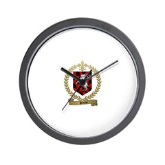 PINEAU Family Crest Wall Clock