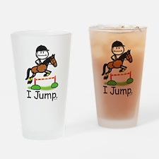 Horse Jumping Stick Figure Drinking Glass