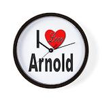 I Love Arnold Wall Clock