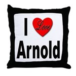 I Love Arnold Throw Pillow