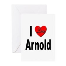 I Love Arnold Greeting Cards (Pk of 10)