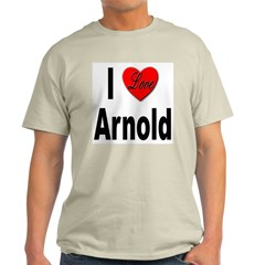 I Love Arnold (Front) Ash Grey T-Shirt