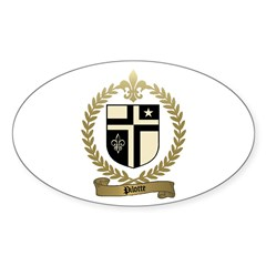PILOTTE Family Crest Oval Decal