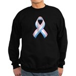 Pink White & Blue Ribbon Sweatshirt (dark)