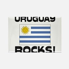 Uruguay Rocks! Rectangle Magnet