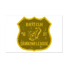 British Drinking League Posters