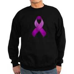 Purple Awareness Ribbon Sweatshirt (dark)