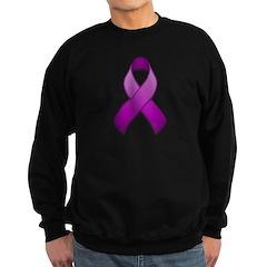 Purple Awareness Ribbon Sweatshirt (dark)