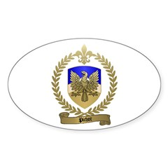 PICHOT Family Crest Oval Decal