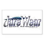 Dare Wear blue Rectangle Sticker
